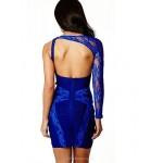 Cocktail Party Dress - Multi-color Sheath/Column Scoop / Notched Short/Mini Spandex / Rayon / Nylon Taffeta Special Occasion Dresses