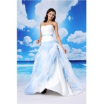 A-line Formal Evening Dress - White Court Train Sweetheart Lace / Organza / Satin Special Occasion Dresses