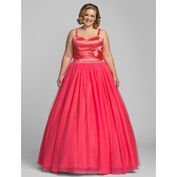 Prom Formal Evening Quinceanera Sweet 16 Dress Watermelon Plus Sizes Petite Ball Gown A Line Princess Sweetheart