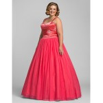 Prom / Formal Evening / Quinceanera / Sweet 16 Dress - Watermelon Plus Sizes / Petite Ball Gown / A-line / Princess Sweetheart Special Occasion Dresses