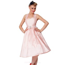 Cocktail Party Dress Blushing Pink Plus Sizes A Line Sweetheart Knee Length Taffeta