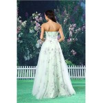 A-line Formal Evening Dress - White Floor-length Sweetheart Organza / Satin Special Occasion Dresses