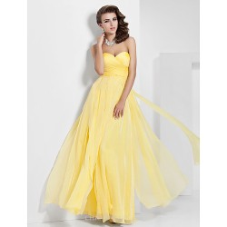 Formal Evening / Prom / Military Ball Dress - Daffodil Plus Sizes / Petite A-line / Princess Sweetheart / Strapless Floor-length Chiffon