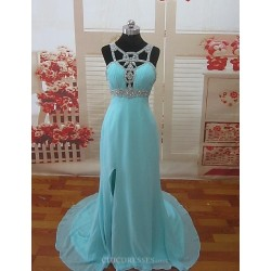 Formal Evening Dress Pool Petite A Line Sweetheart Chapel Train Chiffon