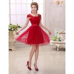 Cocktail Party Dress - Ruby Plus Sizes Sheath/Column Square Short/Mini Charmeuse