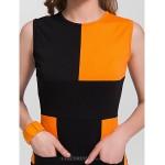 Cocktail Party Dress - Multi-color Plus Sizes Sheath/Column Bateau Knee-length Cotton Celebrity Dresses