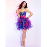 Prom / Cocktail Party / Homecoming / Sweet 16 Dress - Multi-color Plus Sizes / Petite Ball Gown Strapless / Sweetheart Short/MiniOrganza Special Occasion Dresses
