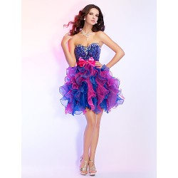 Prom / Cocktail Party / Homecoming / Sweet 16 Dress - Multi-color Plus Sizes / Petite Ball Gown Strapless / Sweetheart Short/MiniOrganza