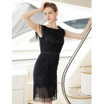 Cocktail Party Dress - Black Plus Sizes Sheath/Column Bateau Short/Mini Satin Special Occasion Dresses