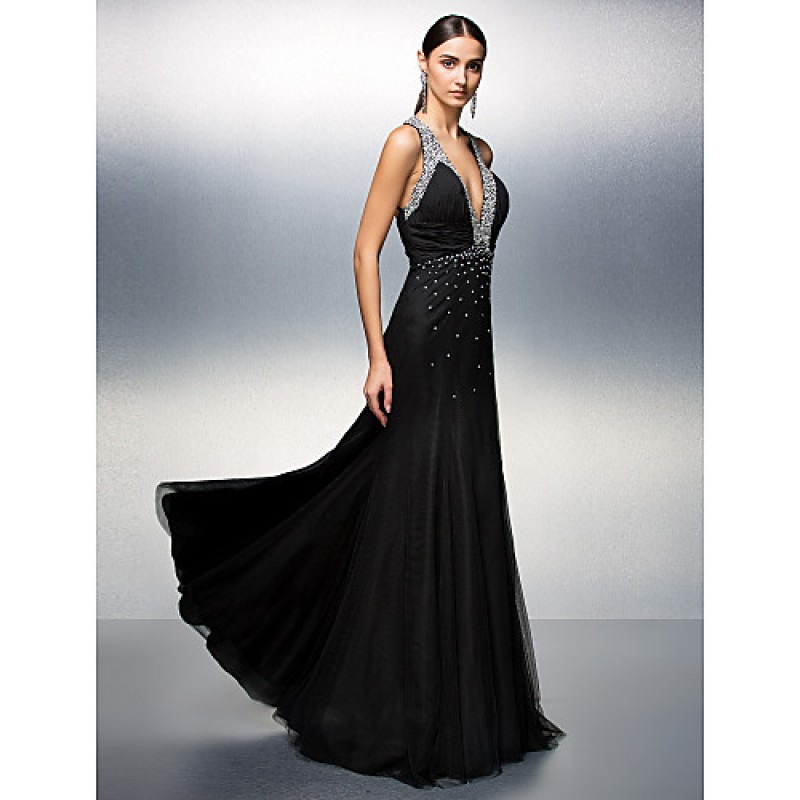 Prom Formal Evening Dress Black Plus Sizes Petite A
