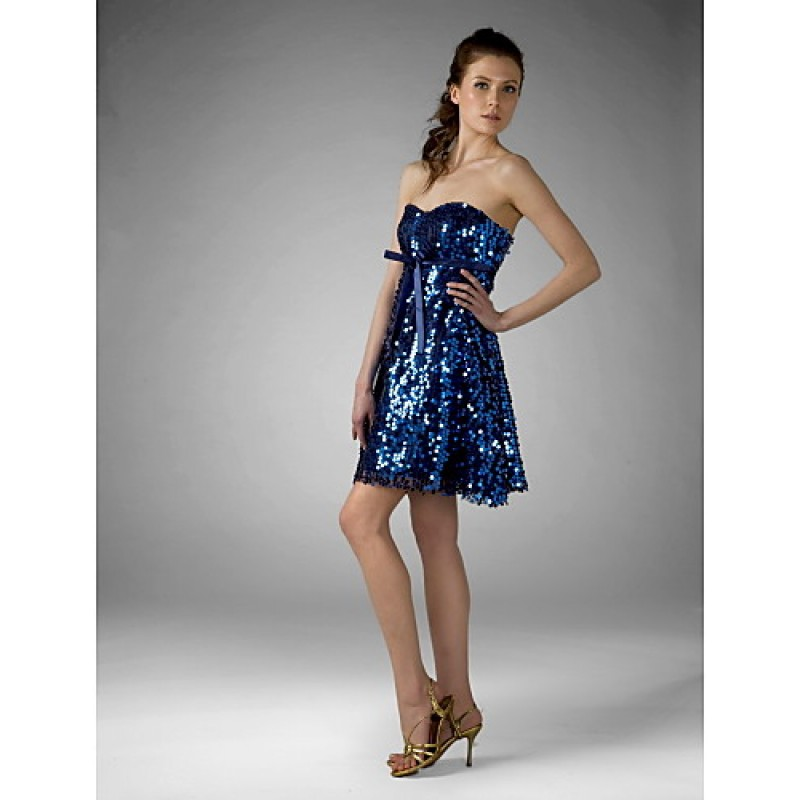Cocktail Party Sweet 16 Holiday Dress Royal Blue