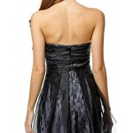 TS Couture Cocktail Party Dress - Black A-line Strapless Short/Mini Organza Special Occasion Dresses