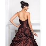 Prom / Formal Evening / Quinceanera / Sweet 16 Dress - Chocolate Plus Sizes / Petite Ball Gown / A-line Sweetheart / Strapless Special Occasion Dresses