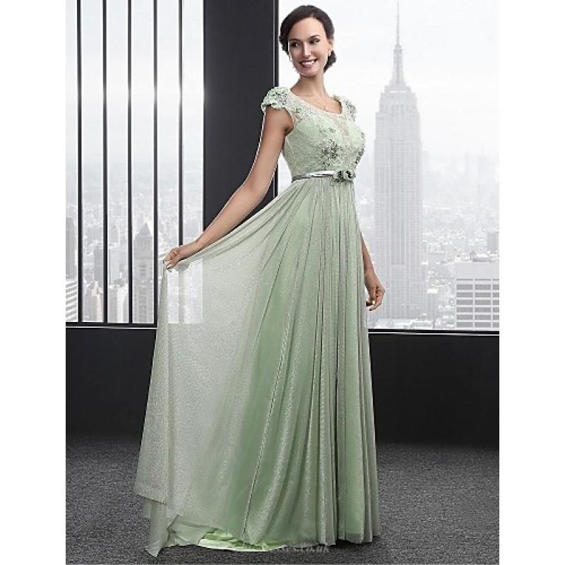 Sage Evening Gown