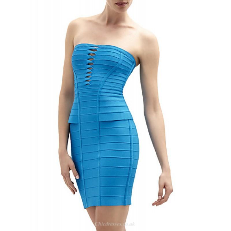 65a85fe4adb Cocktail Party Dress - Multi-color Petite Sheath Column Strapless Short Mini  Spandex