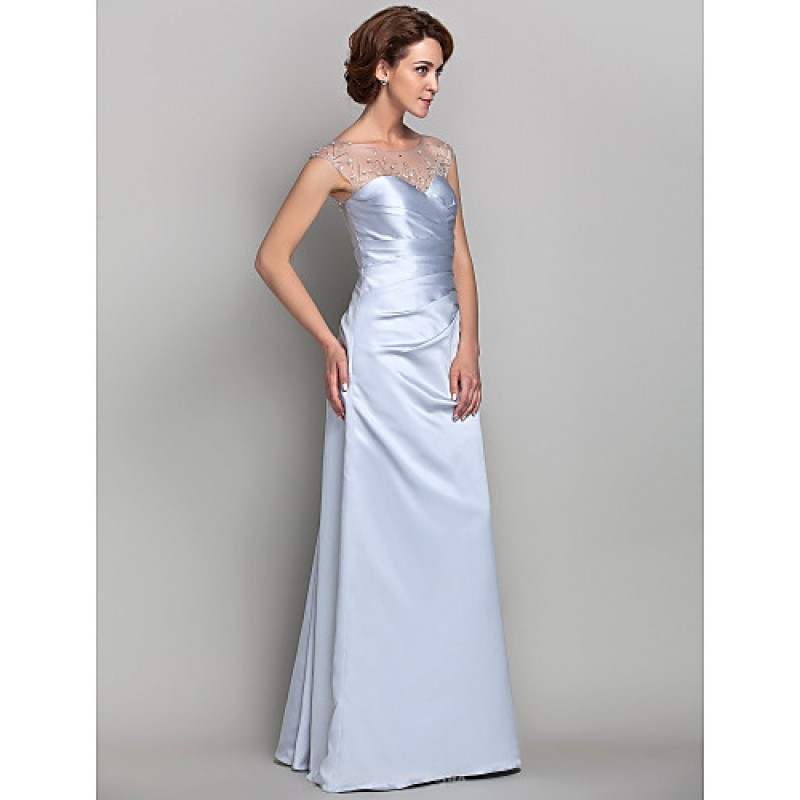 7f2f464d4a0e ... Sheath/Column Plus Sizes / Petite Mother of the Bride Dress - Silver  Floor- ...