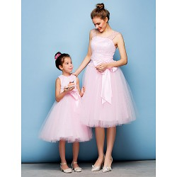 Cocktail Party Dress Blushing Pink Plus Sizes Petite Ball Gown Straps Knee Length Tulle