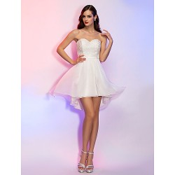 Cocktail Party / Holiday / Graduation Dress - Ivory Plus Sizes / Petite A-line / Princess Strapless / Sweetheart Asymmetrical
