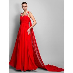 Dress Ruby Plus Sizes Petite A Line Princess Straps Floor Length Chiffon