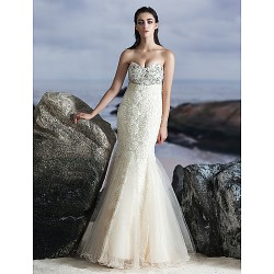 Formal Evening Dress - Multi-color Trumpet/Mermaid Sweetheart Floor-length Tulle