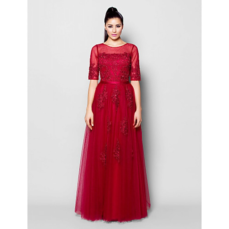 Chic Dresses Formal Evening Dress Burgundy Plus Sizes