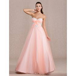 Prom Formal Evening Quinceanera Sweet 16 Dress Pearl Pink Plus Sizes Petite Ball Gown A Line Princess Sweetheart