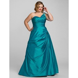 Prom / Formal Evening / Quinceanera / Sweet 16 Dress - Jade Plus Sizes / Petite Ball Gown / A-line / Princess One Shoulder Floor-length