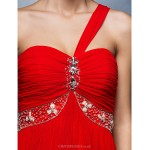Formal Evening Dress - Ruby Plus Sizes / Petite A-line One Shoulder Floor-length Tulle Special Occasion Dresses