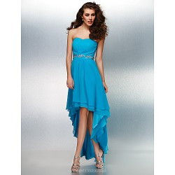 Formal Evening Dress Pool Plus Sizes Petite A Line Sweetheart Asymmetrical Georgette