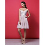 TS Couture Cocktail Party Dress - Blushing Pink Plus Sizes / Petite A-line / Princess Jewel Knee-length Lace / Tulle Special Occasion Dresses