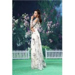 A-line Formal Evening Dress - White Floor-length Jewel Organza / Satin Special Occasion Dresses