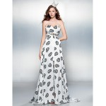 Cocktail Party / Prom Dress - Print Plus Sizes / Petite Sheath/Column Sweetheart Court Train Chiffon Special Occasion Dresses