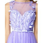 TS Couture Cocktail Party Dress - Lavender A-line Bateau Short/Mini Tulle Special Occasion Dresses
