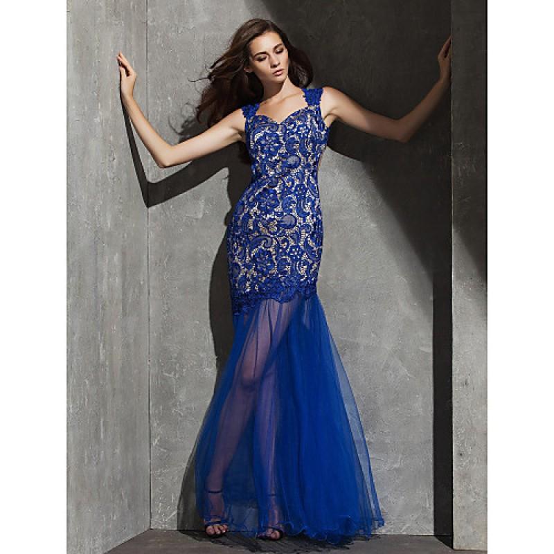 Formal Evening Dress Royal Blue Plus Sizes Petite Fit