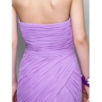 Prom / Formal Evening / Military Ball Dress - Lilac Plus Sizes / Petite Trumpet/Mermaid Strapless Sweep/Brush Train Chiffon Special Occasion Dresses