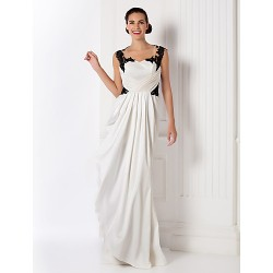 Formal Evening / Prom / Military Ball Dress - Ivory Plus Sizes / Petite Sheath/Column Sweetheart Floor-length Stretch Satin