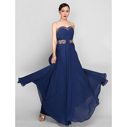 Formal Evening Military Ball Dress Dark Navy Plus Sizes Petite A Line Sweetheart Ankle Length Georgette