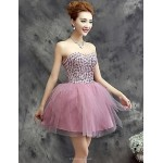 Cocktail Party Dress Plus Sizes A-line Sweetheart Short/Mini Tulle Special Occasion Dresses