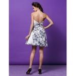 Cocktail Party Dress - Print Plus Sizes / Petite A-line / Princess Sweetheart Short/Mini Satin Special Occasion Dresses