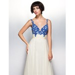 Formal Evening Dress - Multi-color A-line Straps Floor-length Chiffon Special Occasion Dresses
