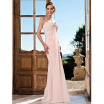 TS Couture Formal Evening / Prom / Military Ball Dress - Pearl Pink Plus Sizes / Petite Trumpet/Mermaid V-neck / Spaghetti Straps Floor-length Special Occasion Dresses