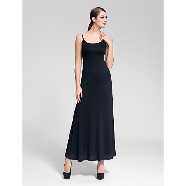 Cocktail Party Dress - Black Sheath/Column Scoop Floor-length Polyester Celebrity Dresses