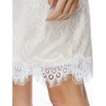 Cocktail Party Dress - Ivory Sheath/Column Off-the-shoulder Short/Mini Lace Special Occasion Dresses