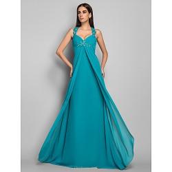 Formal Evening / Military Ball Dress - Jade Plus Sizes / Petite Sheath/Column V-neck Sweep/Brush Train Chiffon