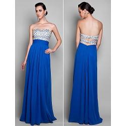 Formal Evening / Prom / Military Ball Dress - Royal Blue Plus Sizes / Petite Sheath/Column Sweetheart Floor-length Chiffon