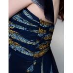Dress - Print Plus Sizes / Petite A-line Straps Floor-length Chiffon Special Occasion Dresses