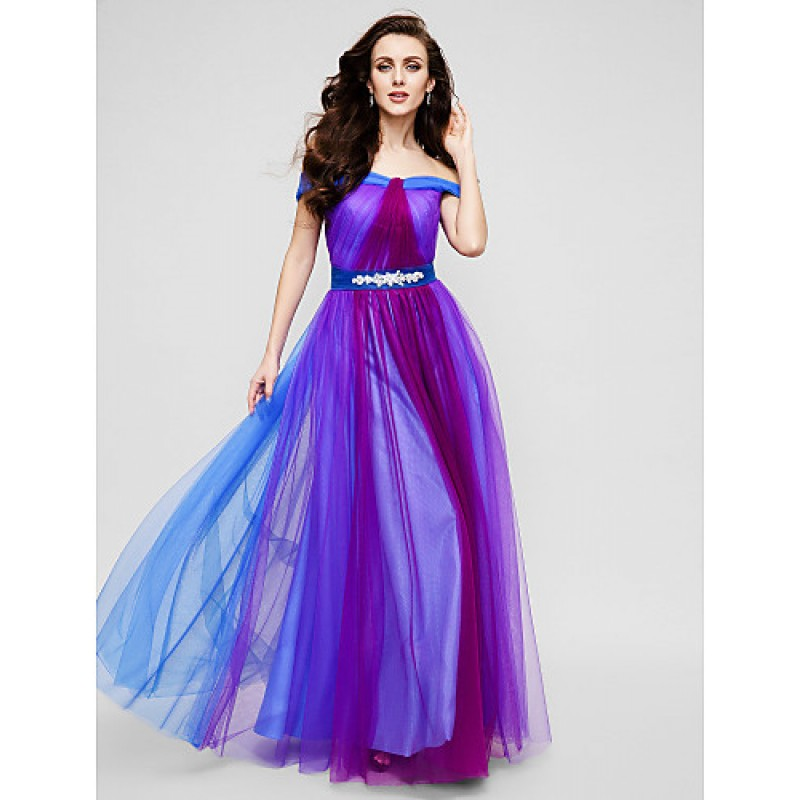 Chic Dresses Formal Evening Dress Multi Color A Line Off The