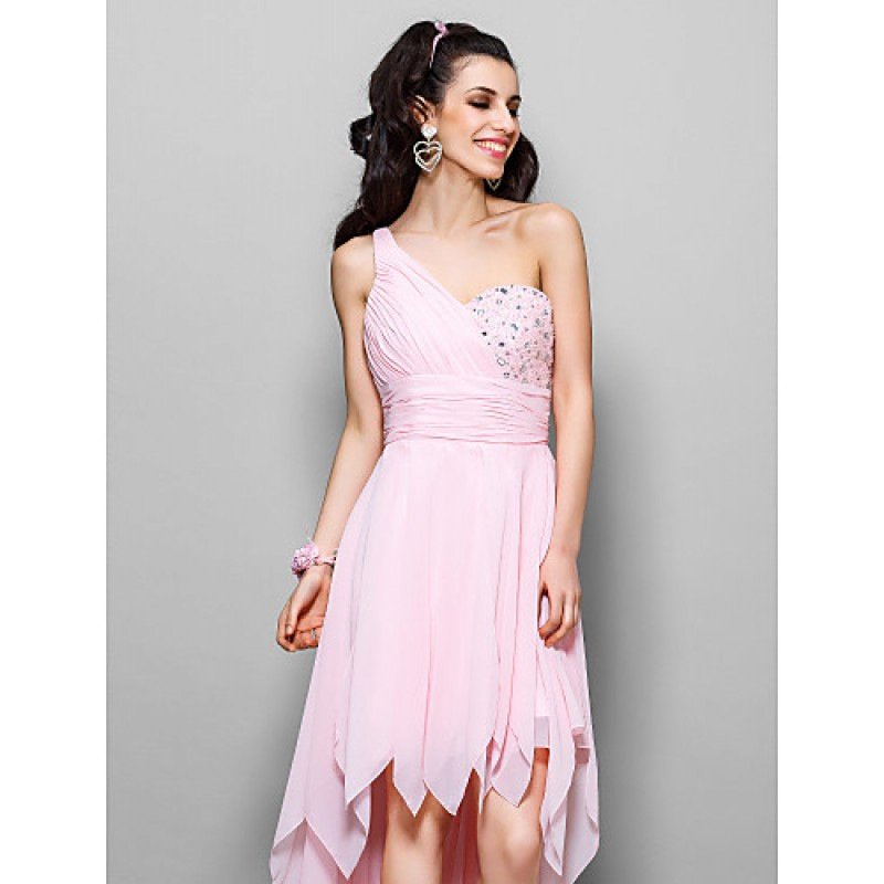 6f7f272c878e ... Cocktail Party / Homecoming / Prom Dress - Blushing Pink Plus Sizes /  Petite A- ...