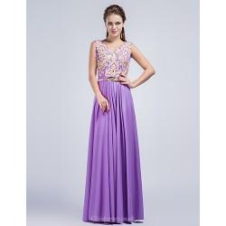 Formal Evening Dress Lilac Sheath Column V Neck Floor Length Charmeuse