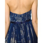 TS Couture Cocktail Party Dress - Dark Navy A-line Sweetheart Knee-length Tulle Special Occasion Dresses